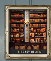 Books for Library Designs, Library Book Displays